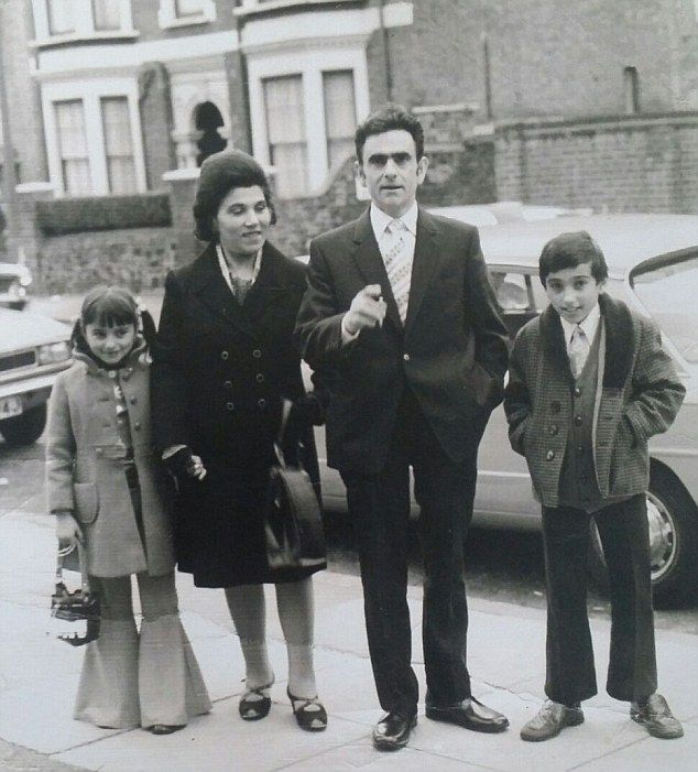 Happy family: Palmira and her late husband Domenico with their now grown-up children, Cele... Rip