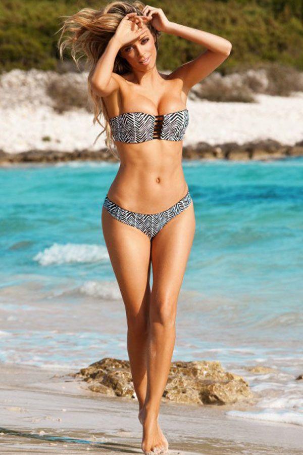Bikini Sexy Chevron Impression Maillot De Bain Pas Cher www.modebuy.com @Modebuy #Modebuy #CommeMontre #me #sexy #Blanc