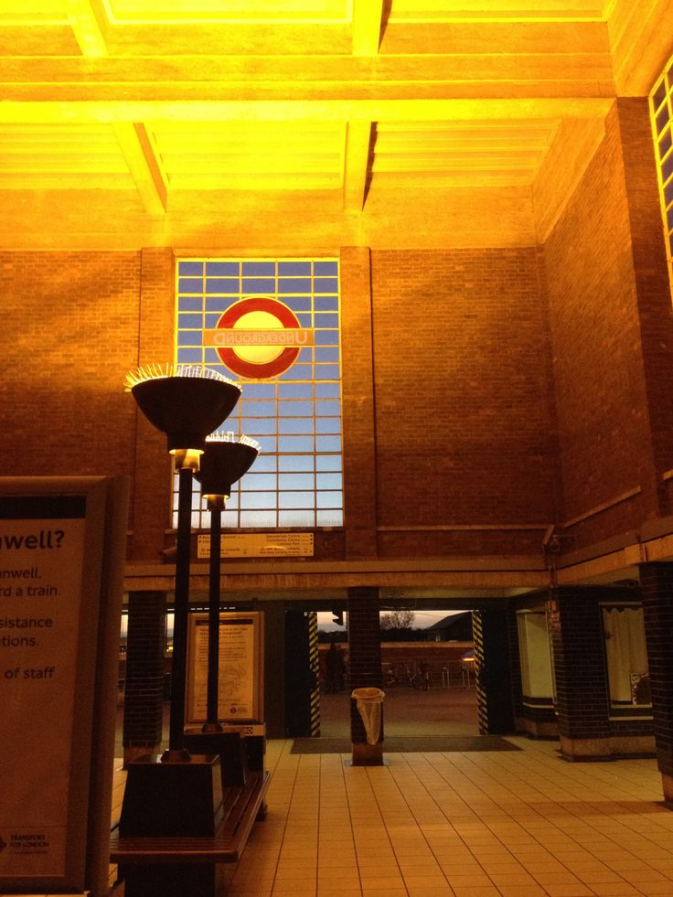 Northfields tube station on the Piccadilly Line by Charles Holden, 1932.