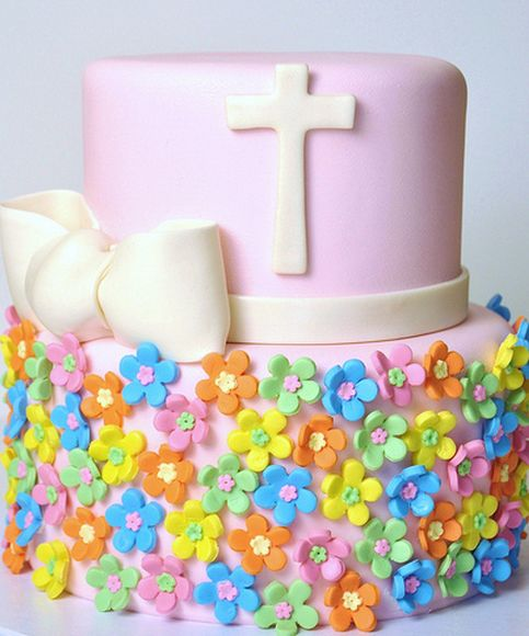 GREAT SOURCE OF IDEAS!!!!!!!!!!!!!!!!!!!!!!!!!!!!!!!!  Modern baptism cakes with colorful floral cake decor ideas.PNG