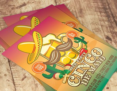 """Check out new work on my @Behance portfolio: """"Cinco De Mayo Beer Party"""" http://be.net/gallery/40109245/Cinco-De-Mayo-Beer-Party"""