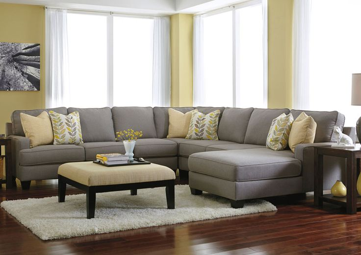 Jennifer Convertibles: Sofas, Sofa Beds, Bedrooms, Dining Rooms & More! Chamberly Alloy Right Arm Facing Chaise End Extended Sectional
