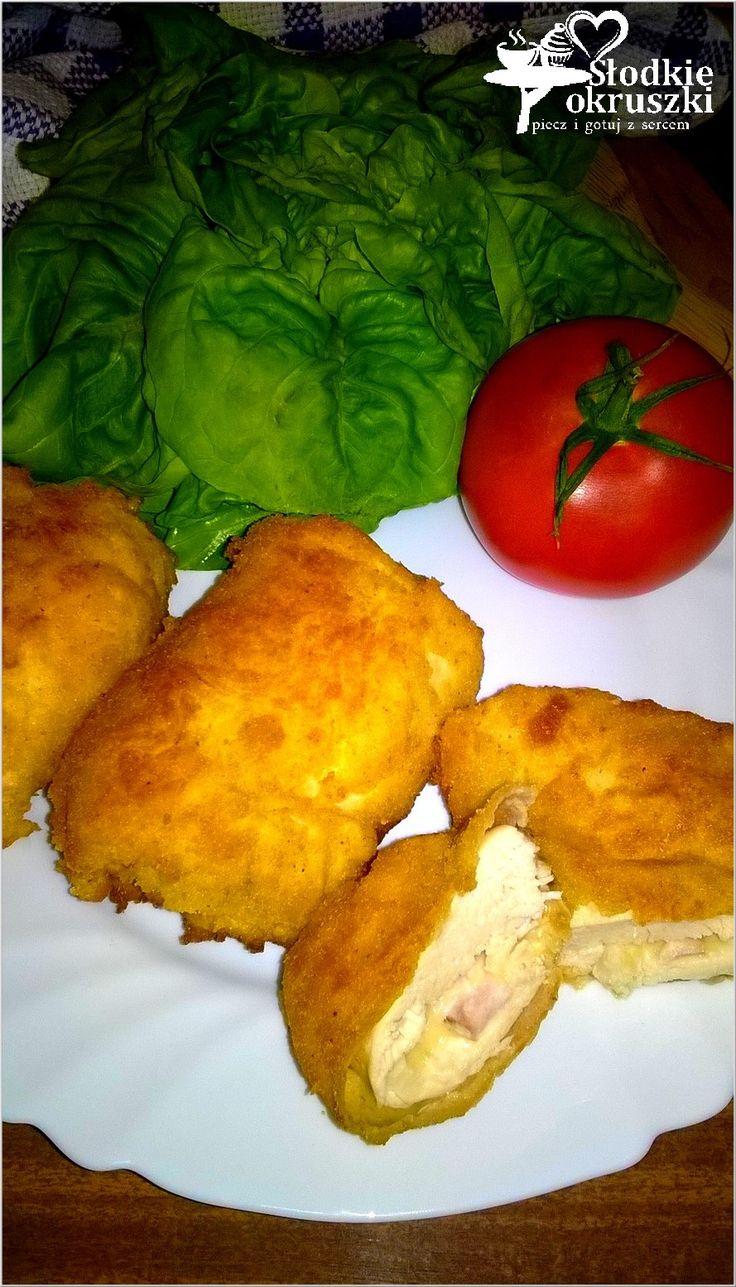 Roladki z kurczaka nadziane serem i wędliną. Szybki obiad. #dinner #obiad #roladki #zkurczaka