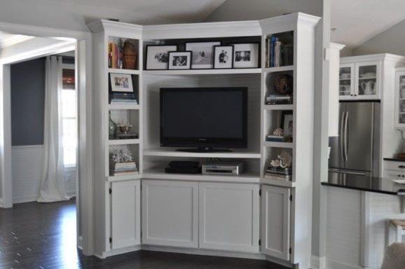 Built In Corner Entertainment Center House Diy
