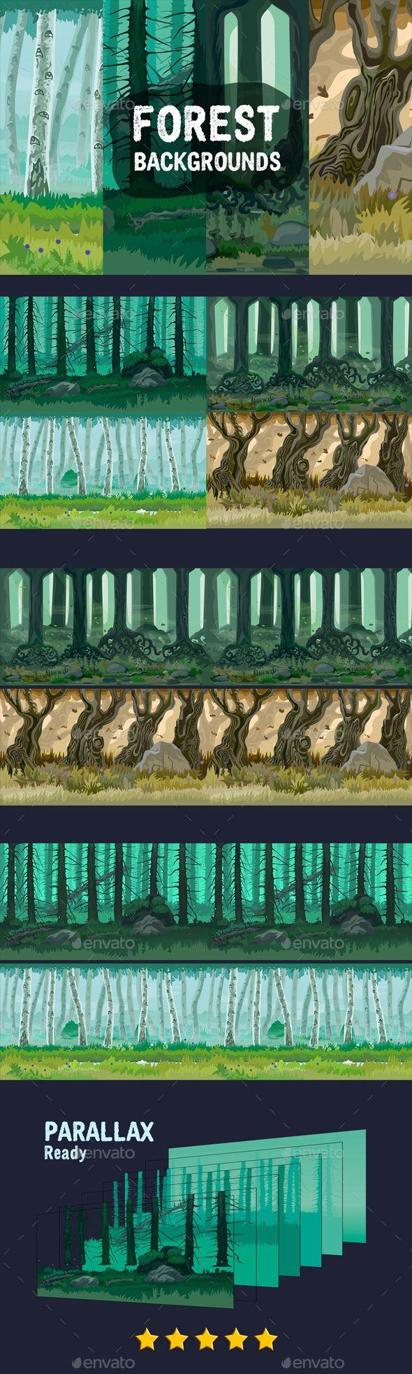 Forest Game Backgrounds Download link: https://graphicriver.net/item/forest-game-backgrounds/20811521?ref=KlitVogli
