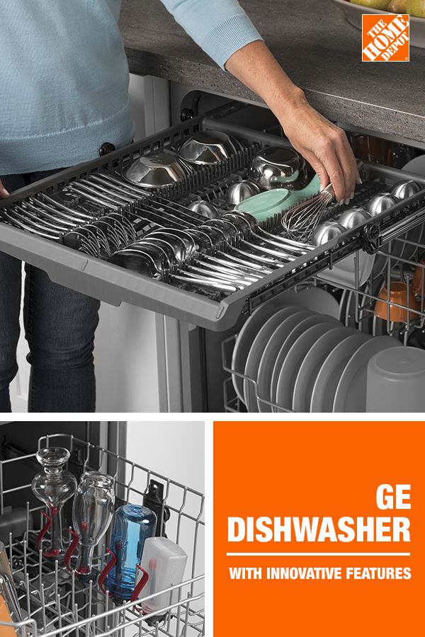 Ge 24 In Stainless Steel Front Control Built In Tall Tub Dishwasher 120 Volt With 3rd Rack Steam Cleaning And 50 Dba Gdf640hsmss The Home Depot Home Kitchens Home Kitchen Design