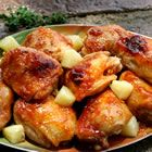 Baked Apricot chicken- I use chicken breast instead of thighs and it's delicious