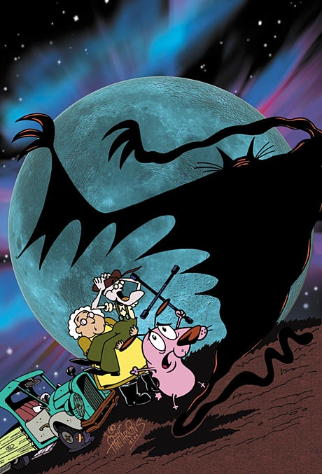 Courage the cowardly dog if u remember then like