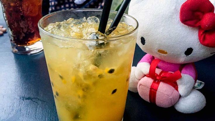 Cocktail analcolico alla frutta, cocktail analcolico con frutto della passione