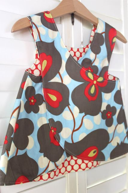 Smashed Peas and Carrots: Little Girl's Crossover Pinafore Pattern {and Tutorial!}