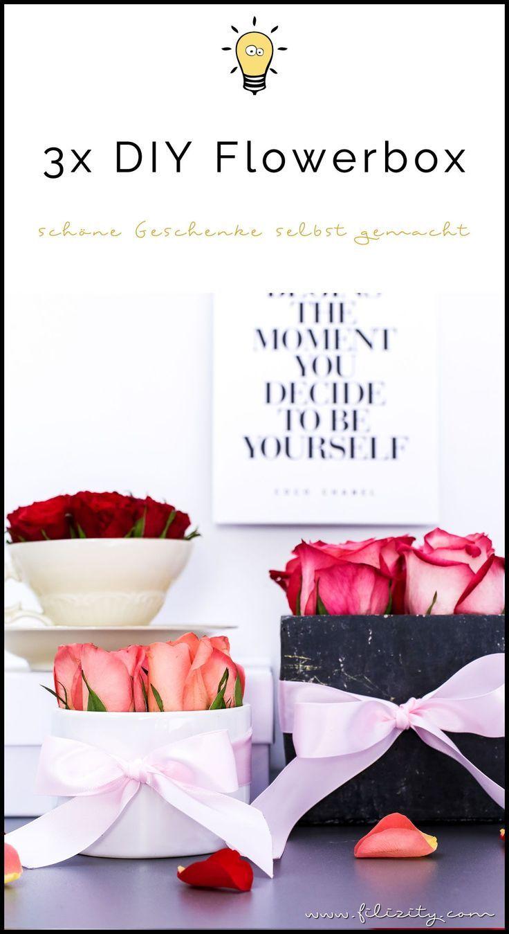 3x Flowerbox Selber Machen Diy Geschenkidee Deko Diy Geschenkideen Geschenke Und Diy Deko Selber Machen