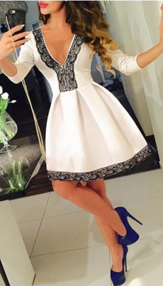 Best 25  Black and white party dresses ideas on Pinterest | Black ...