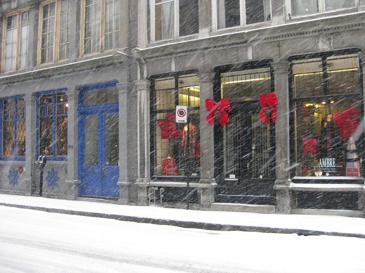 Montreal Winter Vieux Port
