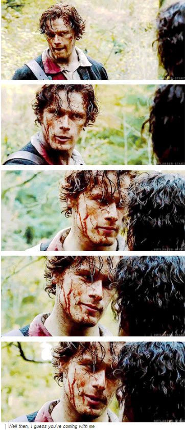 "[GIFSET] ""Well then, I guess you're coming with me"" #Jamie #Outlander OF COURSE I'M COMING WITH YOU, JAMIE!!"
