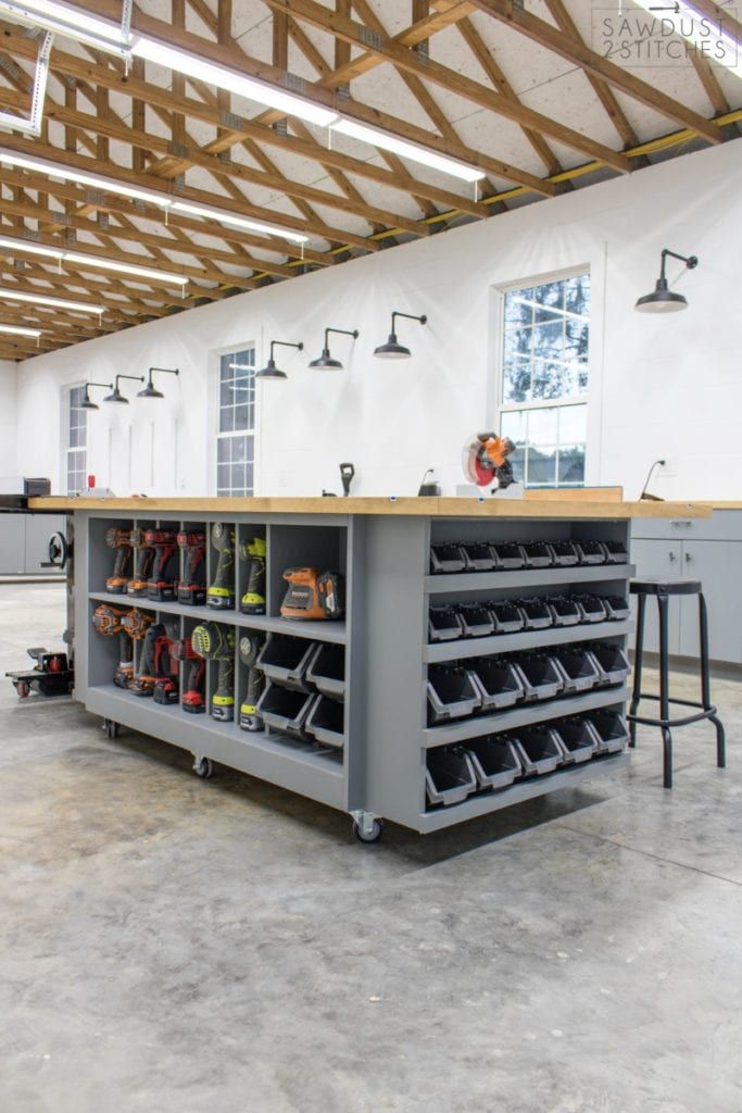 Workbench Storage Table Diy Garage Storage Table