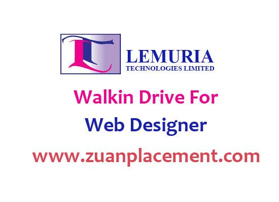 Walkin drive for web designer from @zuanplacement call us: 9884802333