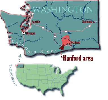 Hanford Washington Map Maps t Washington map