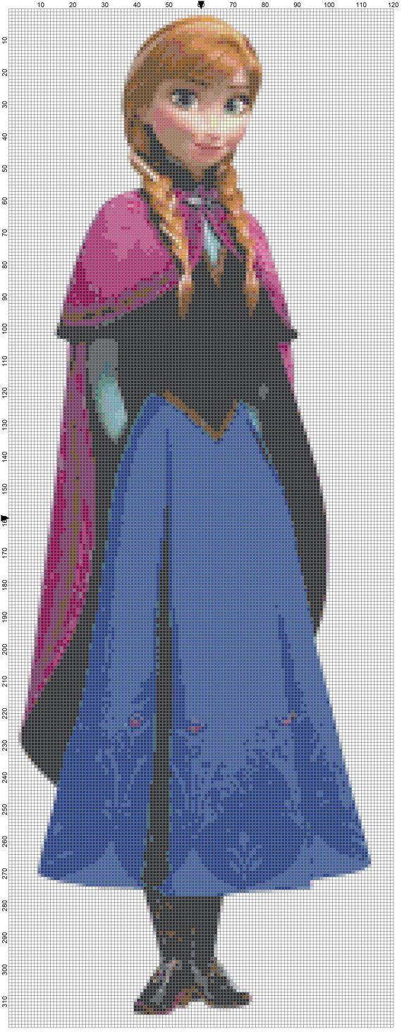 Anna cross stitch pattern PDF frozen