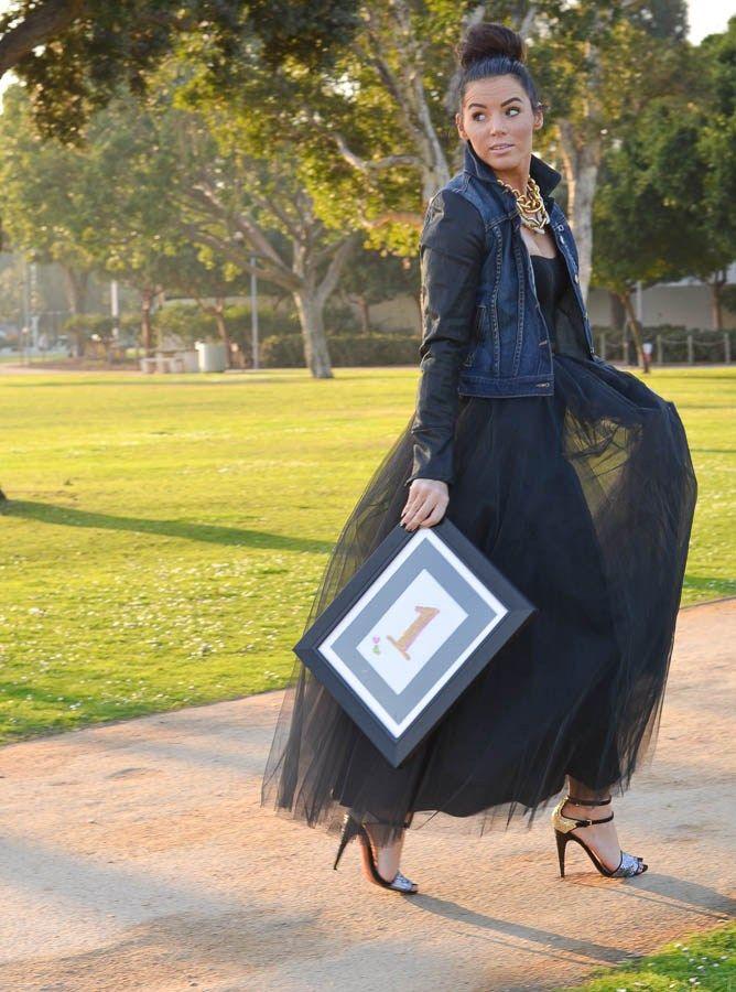 long tulle skirt....