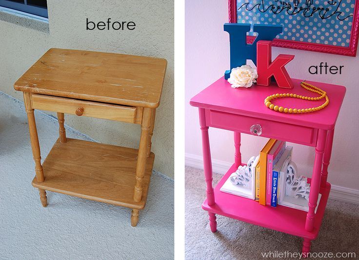 While They Snooze: Tween Girl Side Table