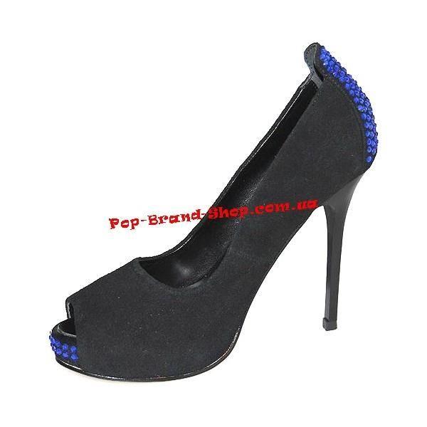 Giuseppe zanotti синие замшевые туфли