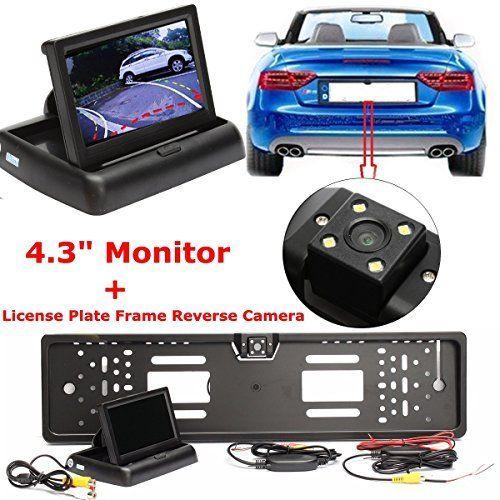 AUDEW 4.3» Moniteur de Voiture Caméra de Recul Vision Nocturne Cadre de Plaque D'immatriculation Kit Sans Fil: Spécification: voiture la…