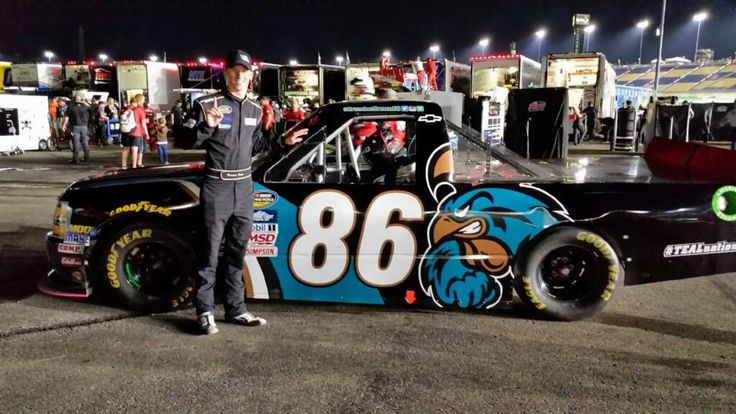 Ccu Student And Driver Brandon Brown At The Nascar Camping