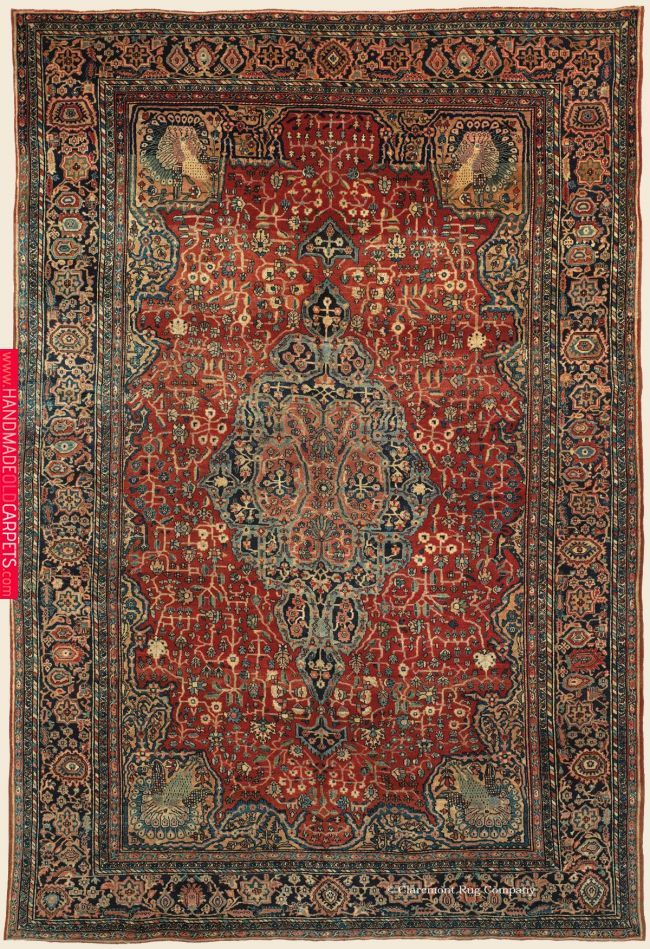 Ferahan Sarouk 8 10 X 12 8 Circa 1900 West Central Persian Antique Rug Claremont Rug Company Antique Persian Carpet Rugs Persian Carpet