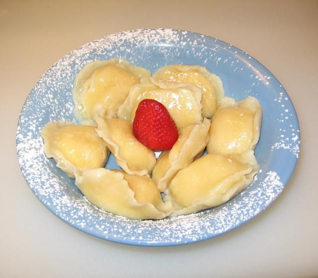 Sweet cheese filling using farmer's cheese is a favorite with pierogi eaters.