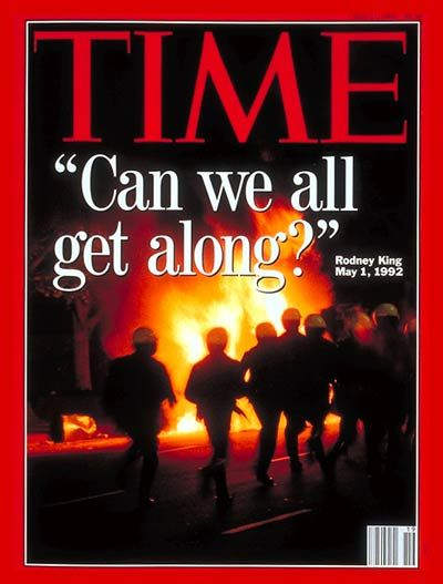 TIME Magazine Cover: Los Angeles Riots -- May 11, 1992 Rodney King