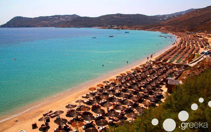 Swim in the fantastic beaches of Mykonos