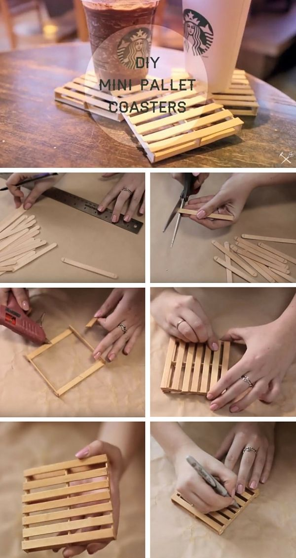Check out the tutorial   DIY Mini Pallet Coasters  istandarddesign. Best 25  Diy apartment decor ideas on Pinterest   College