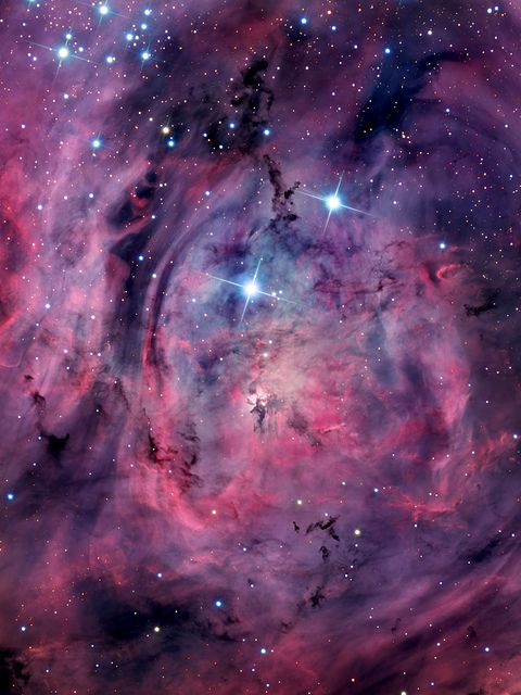 Lagoon Nebula, Second star to the right might take you to neverland