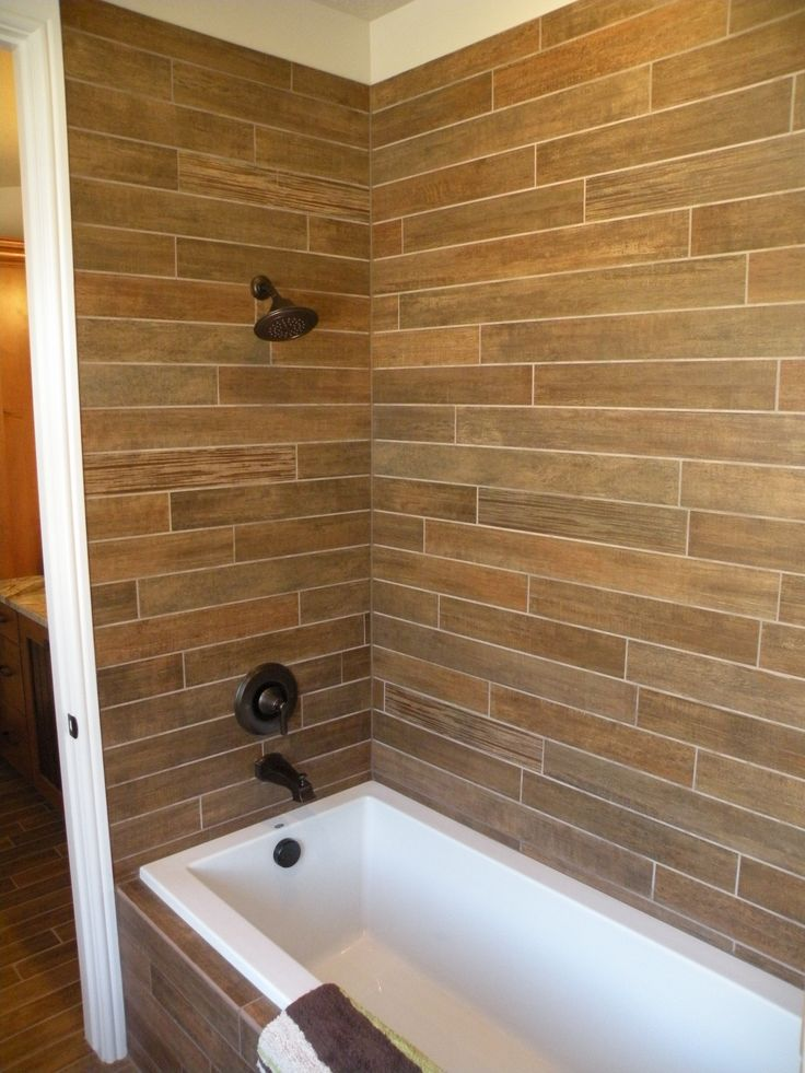 Wood Tile Shower : The old, Old world and Showers on Pinterest