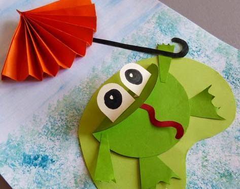 Поделка лягушка из бумаги - Сайт для мам малышей