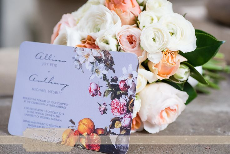 Love this printed invite from one of our weddings x Mel