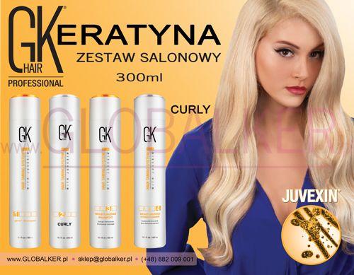 Keratyna do włosów zestaw salonowy GK Hair Curly 300ml Global Keratin Juvexin Warszawa Sklep #no.1 #globalker http://globalker.pl/keratyna-do-zabiegow/838-GK-HAIR-ZESTAW-KERATYNA-CURLY-300ml-GLOBAL-KERATIN.html