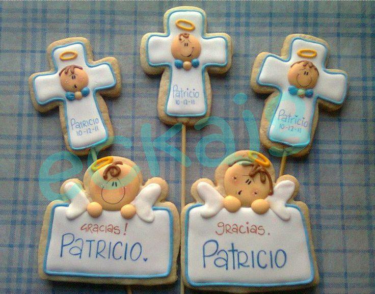 galletas de angelitos para bautizo