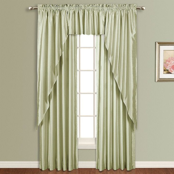 United Curtain Anna Lined Faux Silk Curtain Panel …