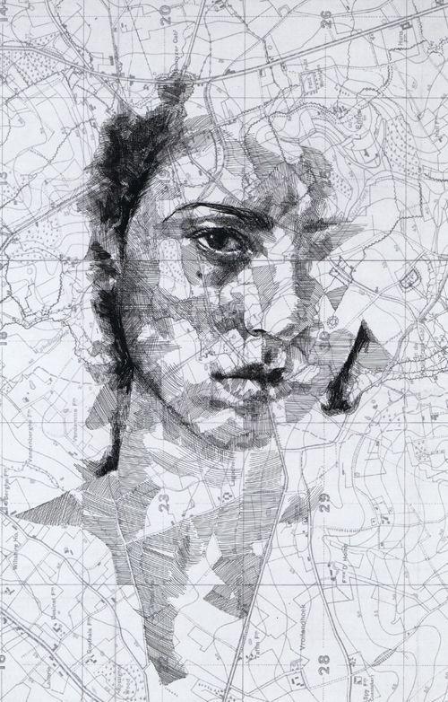World War I Map Portraits by Ed Fairburn