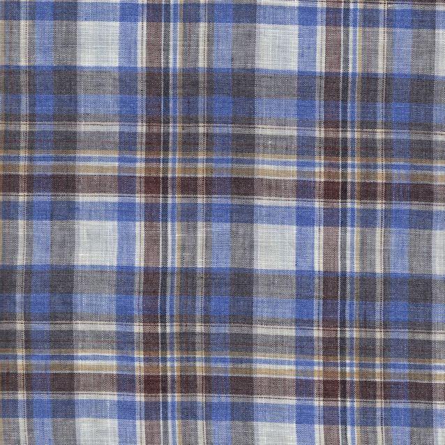 Distinctive Sewing Supplies - Linen Plaid Shirting - Blue Multi, $15.99 (http://www.distinctivesewing.com/linen-plaid-shirting-blue-multi/)