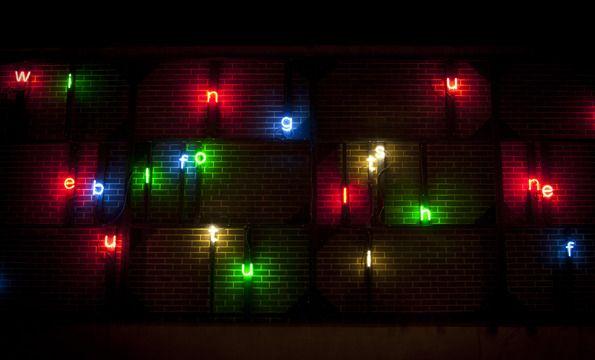 'Will Be', neon by Tim Etchells, Lumiere Durham 2011