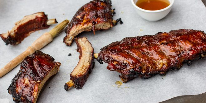 Maple Glazed Ribs for the BBQ, via The Black Peppercorn