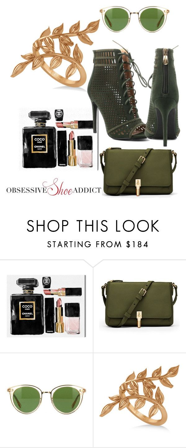 """Olive"" by obsessiveshoeaddict on Polyvore featuring Oliver Gal Artist Co., Elizabeth and James, Oliver Peoples and Allurez"