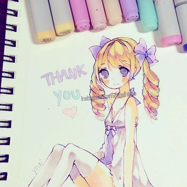 Little drawing dedicated to all my supporters~ Thank you so much for 300k!! I really appreciate all the views, likes, and general positive feedback and kindness for all this time I've been on IG ;v;  I'll probably do a little giveaway or something when I return home but I won't be back until May 31st.  I'm sorry I've been super slow with replying but I don't always have internet access right now because I'm still out of the country visiting. For now I'll try my best to reply quickly and…