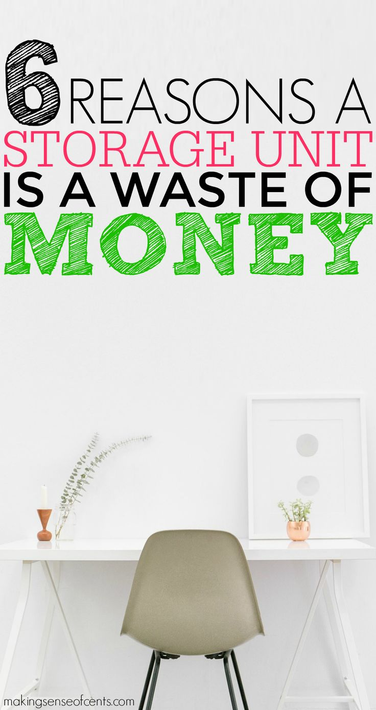 The average storage unit cost can destroy a person's budget. Due to that, as well as clutter, I believe paying for a storage unit is a waste of money!