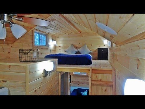 High Tech Tiny House Is Packed With Gadget Goodness - Pinned for the whole house stereo system, pivoting smart TV, and USB outlets!