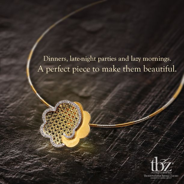For lighter moments will soon unfold. #LightJewellery #TBZ #Gold #Diamond…