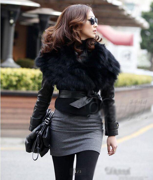 2013 kış yeni moda avrupa klasik yün kalınlaştırmak büyük kürk yaka kurdeleler yay tam kol kısa ceket