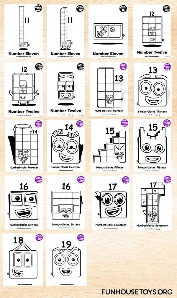 Fun House Toys Numberblocks In 2020 Printable Coloring Pages Coloring For Kids Coloring Pages